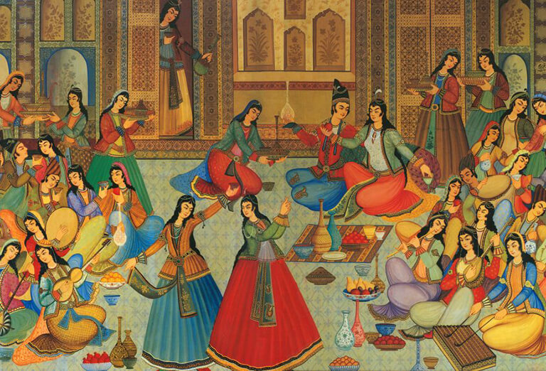 A painting of Persian Dance 7