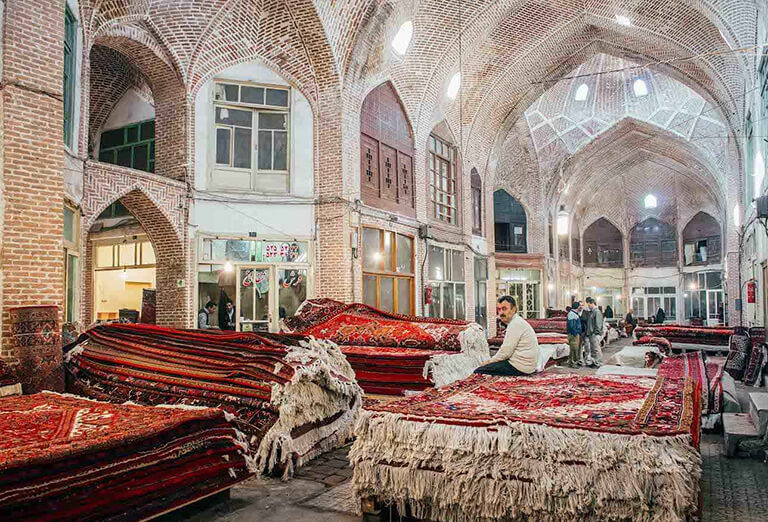 Bazaar of Iranian Carpets
