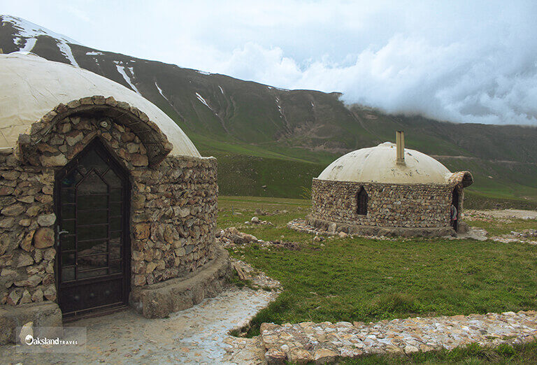 The Yard of Durna Eco-camp in Kazaj, Ardabil