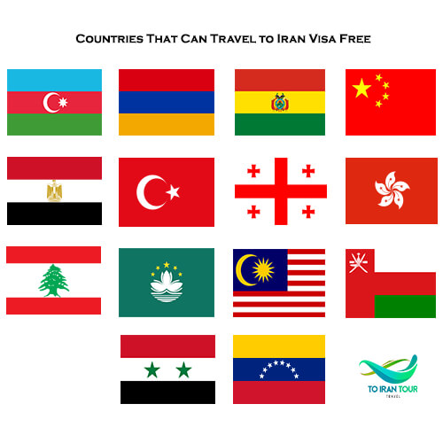 list of countries that can travel to iran visa free n