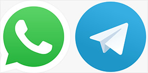 whatsapp and telegram logo - Useful applications for traveling in iran 3