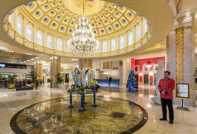types of hotels in iran - Espinas palace in Tehran (5 stars)